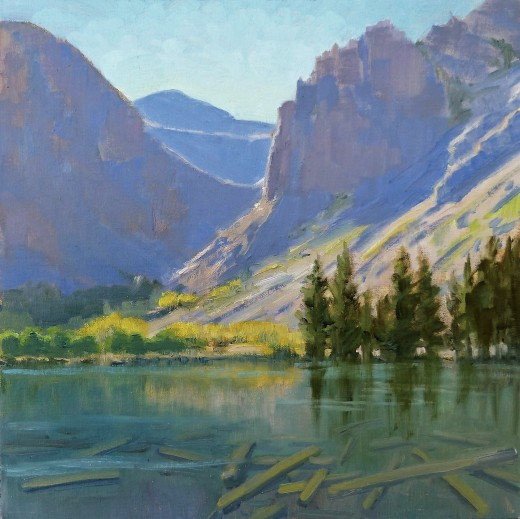 In the Eastern Sierra Mountains are glacier fed lakes