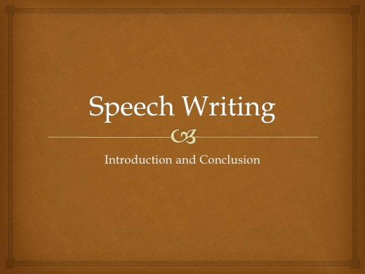 Speech writing introduction and conclusion.