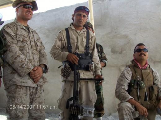 Peshmerga forces.
