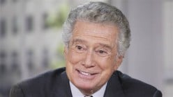 "Regis Philbin, former host of ""Live! With Regis and Kelly and before her, Kathie Lee Gifford"