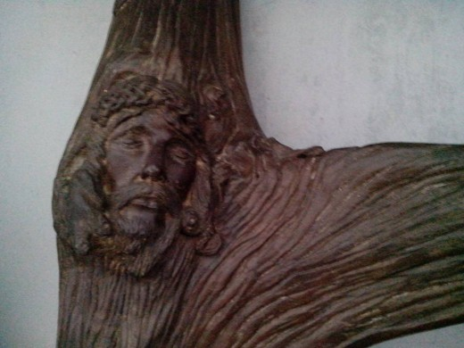 Detailed Wooden Sculpture of Jesus Christ