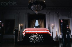 Honor Guard watching coffin of President John F. Kennedy