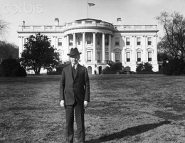 President Calvin Coolidge on South Lawn