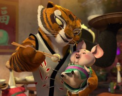 Jolie played the character Tigress in the Kung-Fu Panda animated movies.