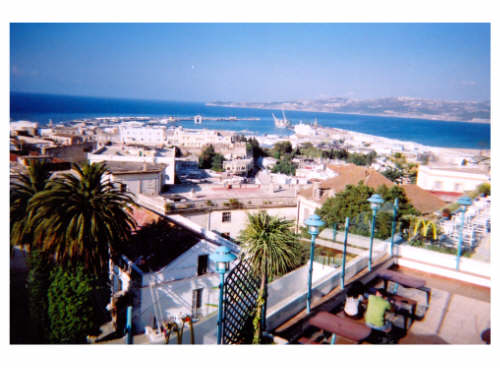 The port of Tangier from McDonald's restaurant