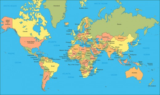 World map to understand the situation.