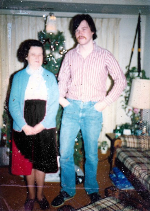 me and Mom, New Year's Eve 1986