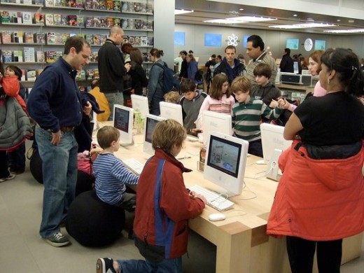 Mac stores in Canada have workshops for kids.  Talk about investing in future customers!