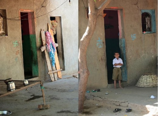 A home without doors at Shani Shignapur