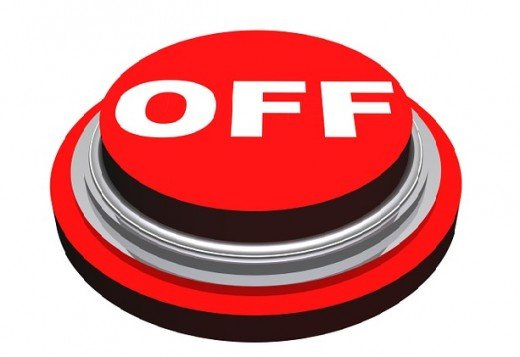 Lack of network is the quickest turn-off button