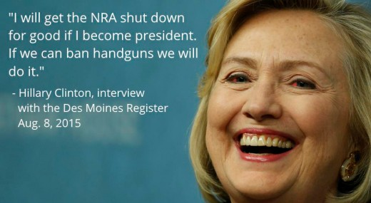 Hillary Clinton gun quote