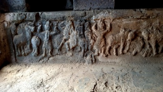 Sculptures of Surya cave, Bhaja