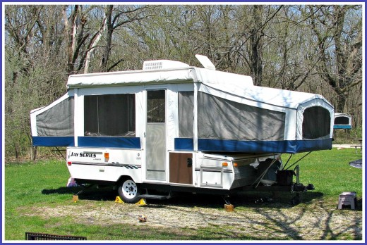 An example of a fold out camping trailer.  Also known as a pop up trailer.