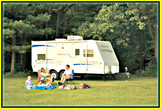 An example of a medium sized pull trailer. These are great for family camping.