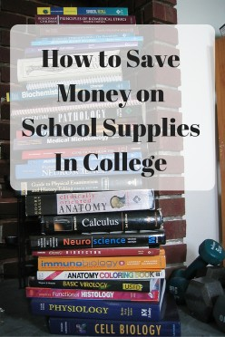 Save Money On Schools Supplies In College