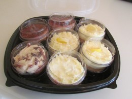 Various desserts which consist of chocolate, coconut and lemon cakes was also included in the Olive Garden package.