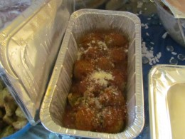 Delicious Meatballs, smothered with parmesan