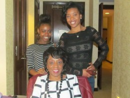 Aunt Doris, her daughter Lynetta and granddaughter Taylor, were also present.