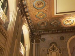 Amazing ceiling structures and designs in Hotel DuPont.