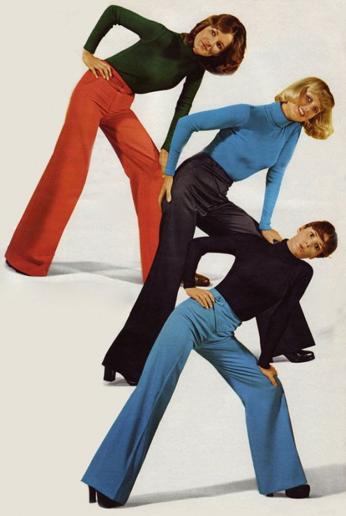 1974 bell bottoms for high school and college girl students