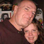 This is me with my eldest granddaughter, Alexis Cameron Nash, in 2008