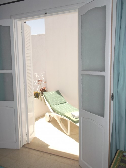 There is a little sun trap adjoining the main bedroom where you can catch the sun just after lunch for an hour or so!