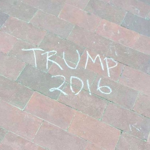 Students felt that seeing Trump support chalked on the sidewalk made them fear for their lives