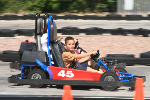 You are kidding yourself if you think that go-kart driving is not a challenge. They are fast and you have to be watchful for the other drivers as well as they can sneak up on you from either side. Fun, exciting, challenging and an adrenaline rush.
