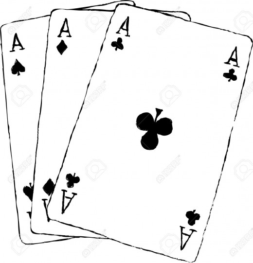 Aces represent the mafia members
