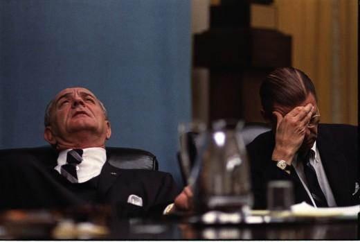 President Johnson and Robert McNamara