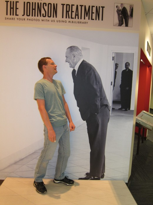 """The author experiences the """"Johnson treatment"""" at the LBJ Library"""