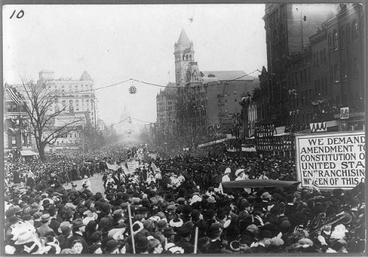 Women Suffrage Parade, Washington D.C. Photo taken by: Buck, G.V. Library of Congress 1913