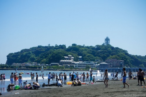 A look at Japan's Enoshima Beach enjoyed by those that love to be around water.