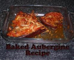 Easy Baked Aubergine or Eggplant Recipe