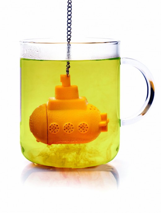 I found this adorable Yellow Submarine tea infuser on Amazon.