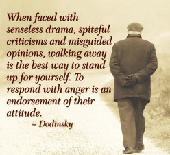 Walk away from anger does not make you a coward