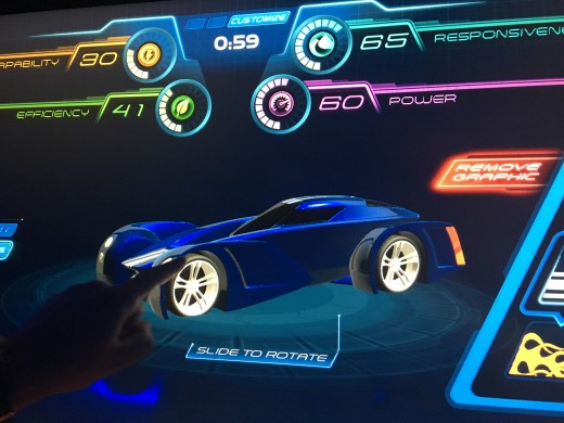 The programs keeps track of the time you have to create your car. It also lets you know how effective your car is in terms of power, capability, responsiveness, and efficiency.