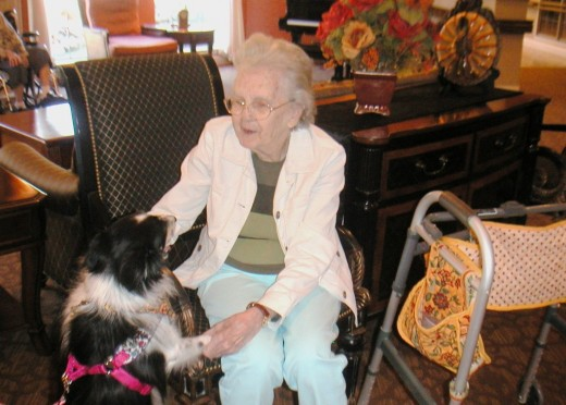 Visiting Dog's Association brings cheer to the seniors at the Skilled Nursing Facility