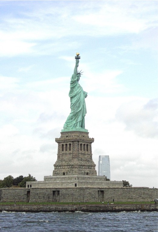 The inspirational Statue of Liberty, a gift from France