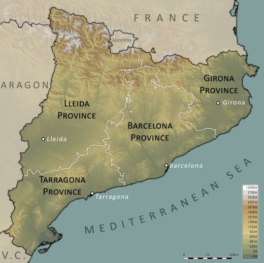 Geographic map.