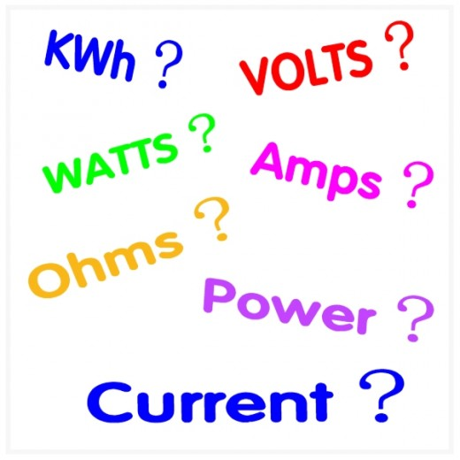 Watts Amps And Volts Kilowatt Hours Kwh And Electrical