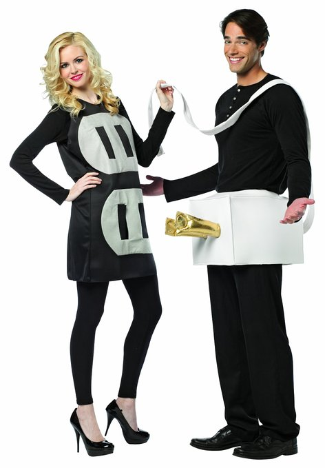 Rasta Imposta lightweight plug and socket Halloween costume for couples