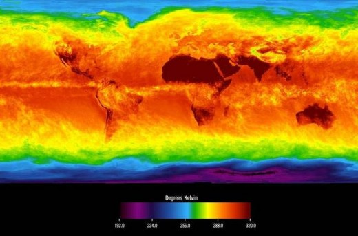 FIGURE 4 A snapshot of the temperature field of Earth's climate.