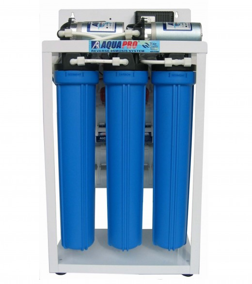 A reverse osmosis water filter.  Great for fluoride, metal, and particle removal.