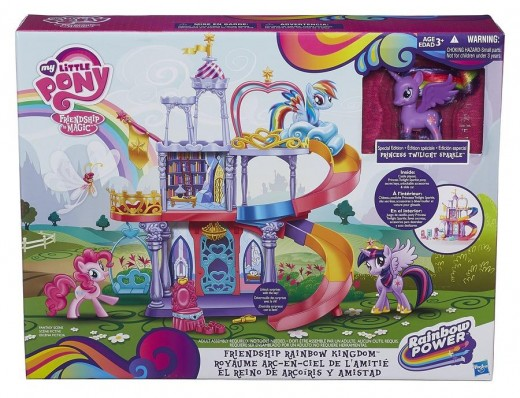 Twilight Sparkle's new castle in toy form. The castle also made its way into the show. But with a different aesthetic.