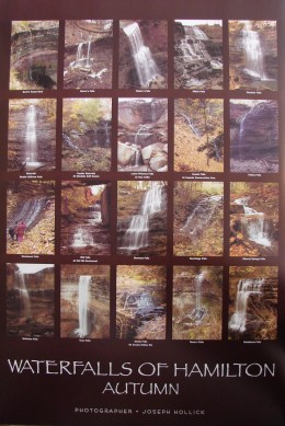 Poster showing 20 of Hamilton's waterfalls in Autumn