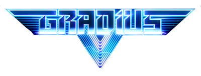 Logo for Gradius V. While there are variation, all Gradius games use the same font and lettering style.