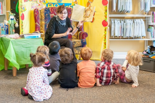 Check out the Storytime hour at your local library for a fun activity to do with your child.