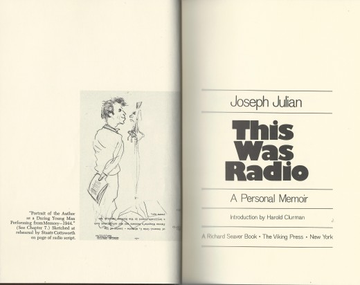 This Was Radio, A Personal Memoir, by Joseph Julian