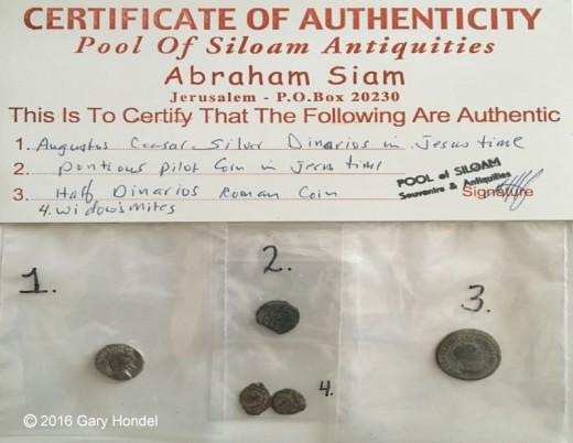 Ancient Roman Coins Purchased in Jerusalem